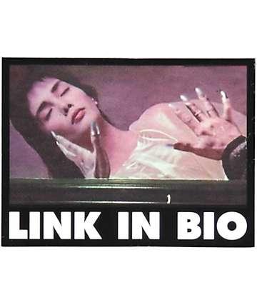 Flying Coffin Link In Bio Sticker