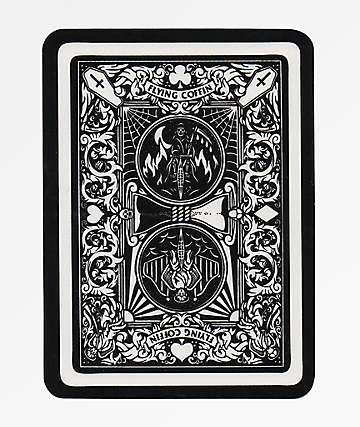 Flying Coffin Playing Card Sticker