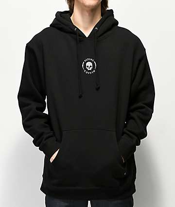 Flying Coffin Shocktrooper Logo Black Hoodie