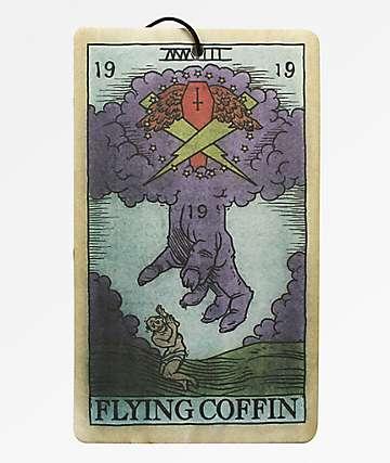 Flying Coffin Tarot Card Air Freshener