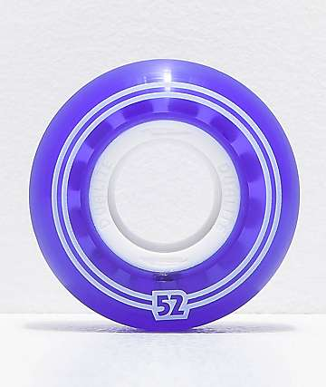 Form Dualite Purple & White Gel 52mm Skateboard Wheels