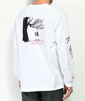 Fortune Cherry Blossom White Long Sleeve T-Shirt