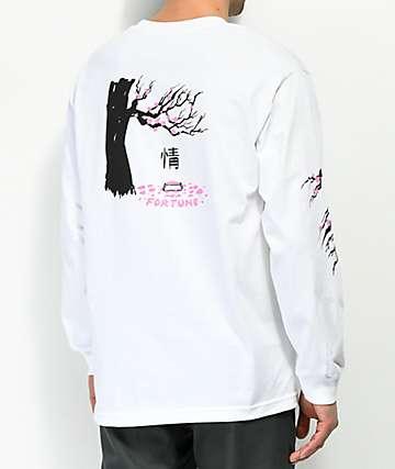 Fortune Cherry Blossom White Long Sleeve T-Shirt