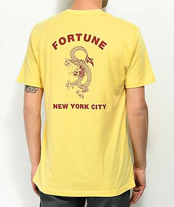 Fortune Dragon Yellow T-Shirt