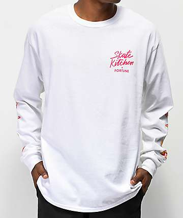 Fortune Kitchen White Long Sleeve T-Shirt