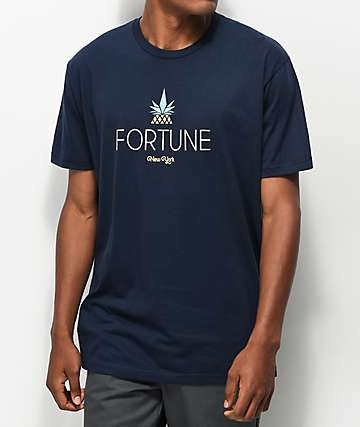 Fortune Pineapple Navy T-Shirt