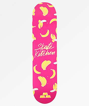 "Fortune x Skate Kitchen Banana Pink 7.5"" Skateboard Deck"