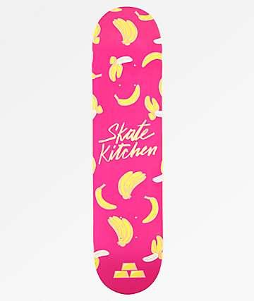 "Fortune x Skate Kitchen Banana Pink 7.5"" Skateboard Deck"
