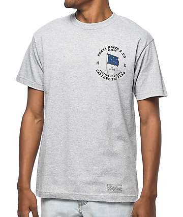 Forty Ninth Supply Co Playing For Keeps Heather Grey T-Shirt
