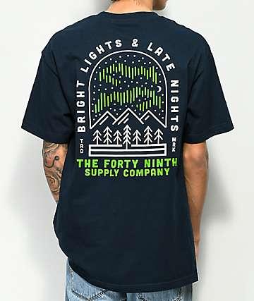 Forty Ninth Supply Co. Bright Lights camiseta en azul marino