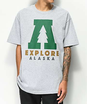Forty Ninth Supply Co. Explore Alaska Heather Grey T-Shirt