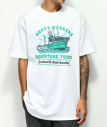 Forty Ninth Supply Co. Happy Hook White T-Shirt