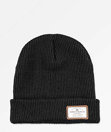 Forty Ninth Supply Co. Huntsman Black Beanie