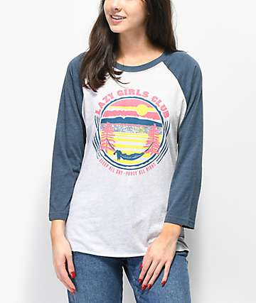 Forty Ninth Supply Co. Lazy Girl Club Raglan T-Shirt