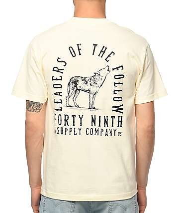 Forty Ninth Supply Co. Leaders Of The Follow camiseta en color crema