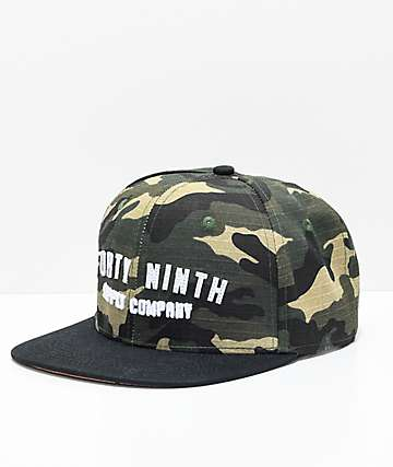 Forty Ninth Supply Co. Quiet Storm Camo Snapback Hat