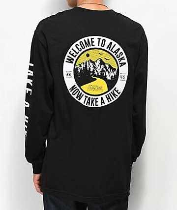 Forty Ninth Supply Co. Take A Hike camiseta negra de manga larga
