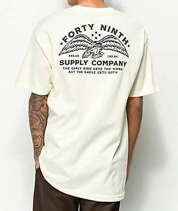 Forty Ninth Supply Co. The Eagle Cream T-Shirt