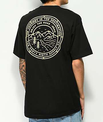 Forty Ninth Supply Co. The Road Ahead Black T-Shirt