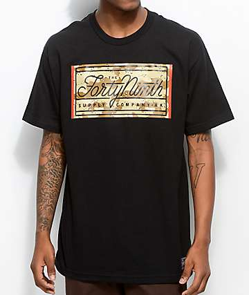 Forty Ninth Supply Co. The Storm Black & Camo T-Shirt
