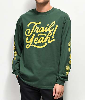 Forty Ninth Supply Co. Trail Yeah Green Long Sleeve T-Shirt