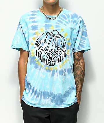 Fourty Ninth Supply Co. Trip camiseta azul con efecto tie dye