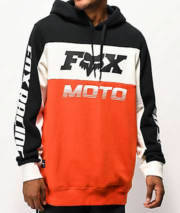 Fox Charger Orange, Black & White Hoodie