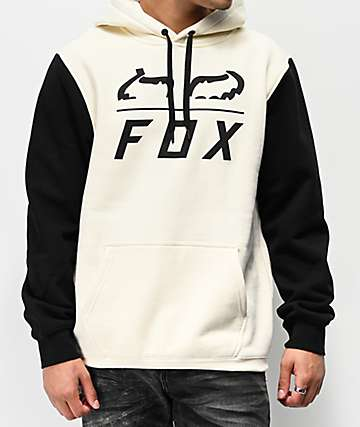 Fox Furnace Cream & Black Hoodie