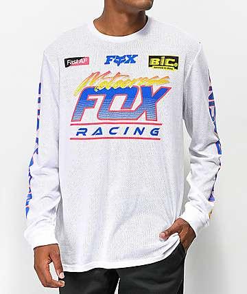 Fox Jetskee jersey de malla blanca de manga larga