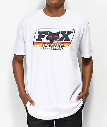 Fox Throwback camiseta blanca