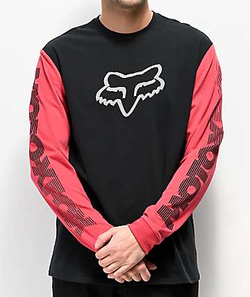 Fox Victory Airline Black & Red Long Sleeve T-Shirt