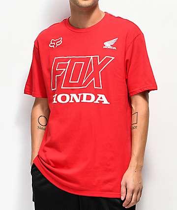 Fox x Honda camiseta roja