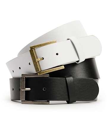 Free World 2 For 1 Black & White Belts