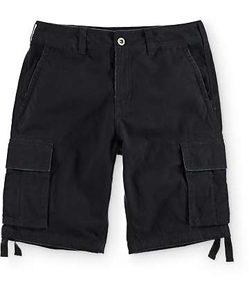Free World Calamity Black Cargo Shorts