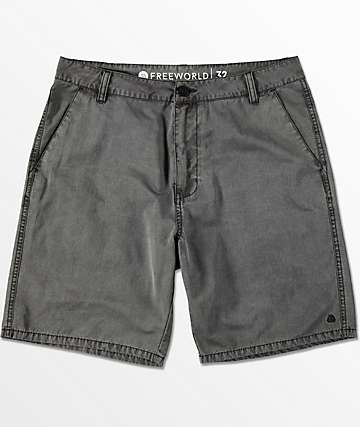 Free World Dawn Patrol Black Washed Hybrid Shorts