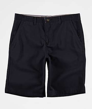58606b01b4 Free World Discord Black Chino Shorts