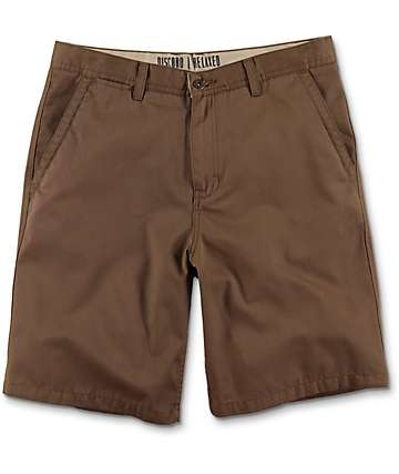 Free World Discord Dark Khaki Chino Shorts