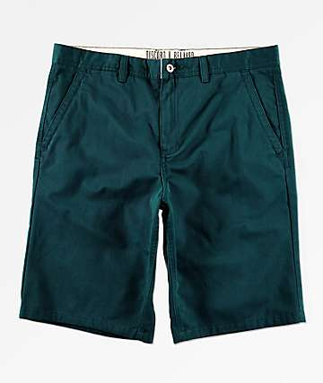 Free World Discord Dark Teal Chino Shorts