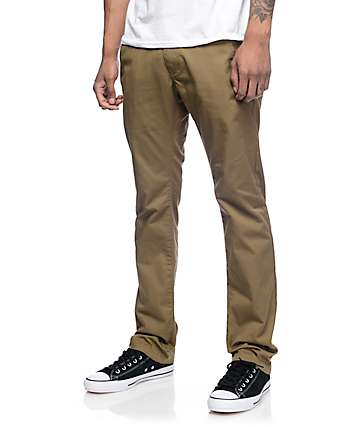 Free World Drifter Dark Khaki Chino Twill Pants