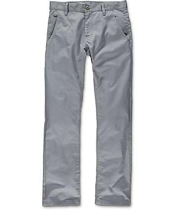 Free World Drifter pantalones chinos asargados en gris