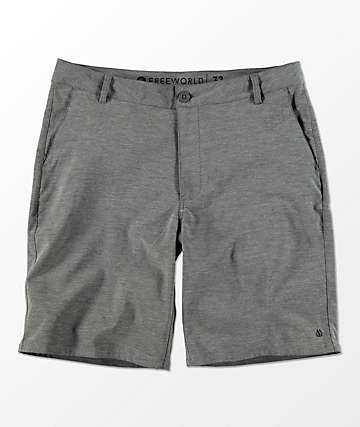 Free World Glassy shorts híbridos en gris