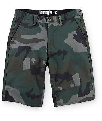 Free World Hooligan Rambler shorts chinos camuflados