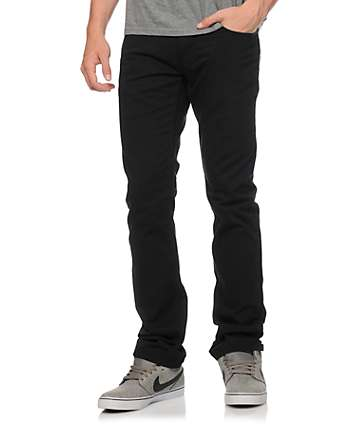 Free World Messenger 5 Pocket Twill Black Pants