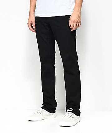 Free World Messenger jeans ajustados en negro