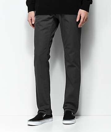 Free World Messenger pantalones de sarga gris