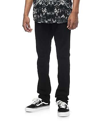 Free World Messenger skinny jeans negros
