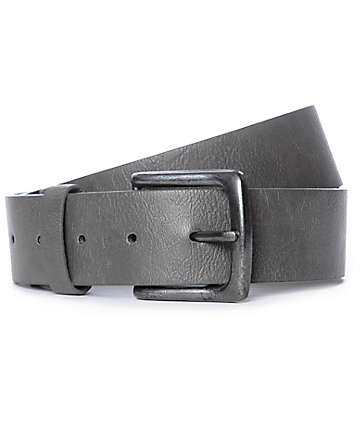 Free World Mingler Distressed Matte Grey Belt