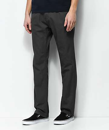 Free World Night Train 5 Pocket Charcoal Twill Pants