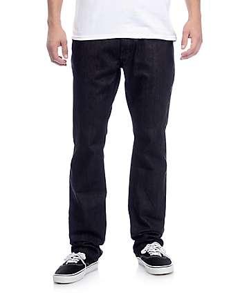 Free World Night Train Black Raw Denim Regular Fit Jeans (Past Season)