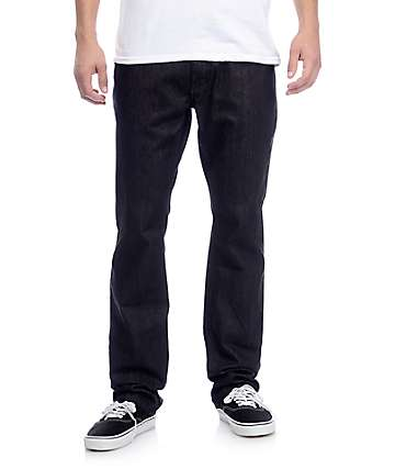 Free World Night Train Black Raw Denim Regular Fit Jeans (Past Season)